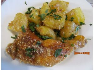 Recette Cuisses de poulet et pommes de terre crousti-fondantes - Recette en vidéo