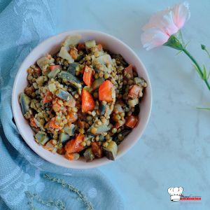 Recette Lentilles et aubergines à la tomate Recette Companion