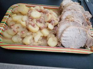 Recette Rôti de porc à la paysanne au cookeo