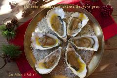Recette Huîtres chaudes à la crème de foie gras