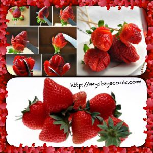 Recette Astuce : des roses en fraise ou des fraises en rose ?