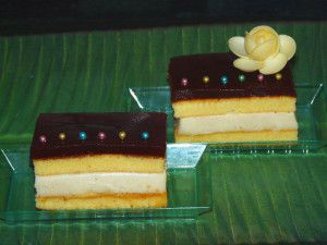 Recette Napolitain chocolat blanc framboise