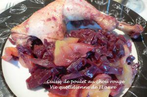 Recette Cuisses de poulet au chou rouge
