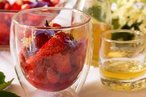 Recette Salade de fraises au sirop de sureau