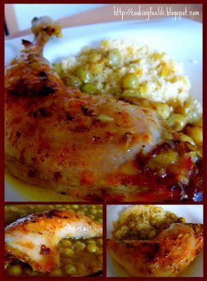 Recette Cuisses de poulet aux épices et aux raisins