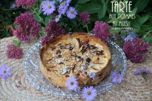 Recette Tarte aux pommes et au muesli