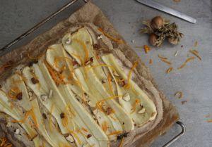 Recette Pizza panais-noisette-orange