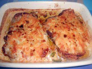Recette Cotes  de  porc  gratinees  alla mozzarella