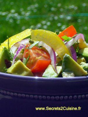 Recette Salade d'avocats - fait
