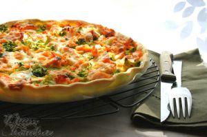 Recette Quiche au saumon , brocolis et mozzarella