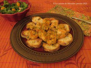 Recette Crevettes au pesto crémeux de tomates séchées