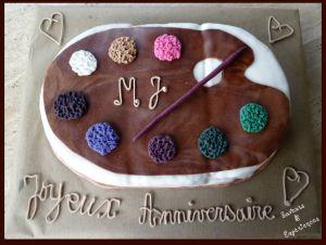 Recette Gâteau Palette Pâte à Sucre Tutorial