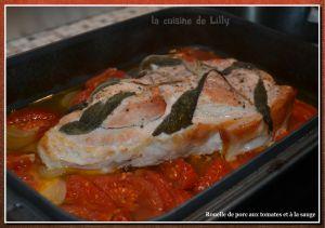 Recette Rouelle de porc aux tomates et à la sauge