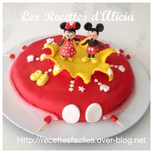Recette Gateau Mickey Minnie pâte a sucre
