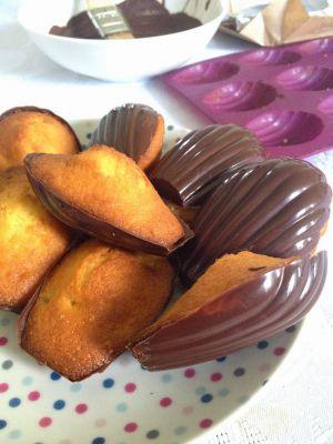 Recette Madeleine poire - chocolat - fève de tonka