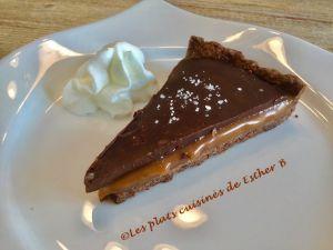Recette Tarte au chocolat avec intérieur fondant au caramel salé