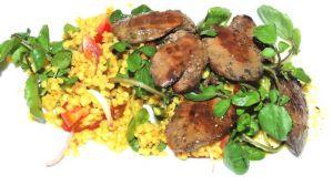 Recette Foies de volaille aux mangues et à l'oignon