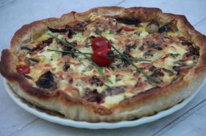 Recette Tarte au thon, tomates cerise et fromage frais