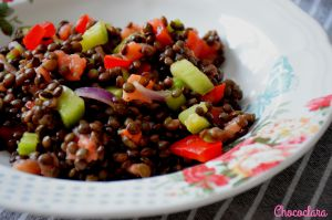 Recette Salade de lentilles au saumon fumé de Michal