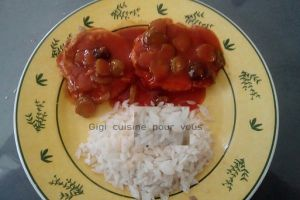 Recette Rôti de porc sauce charcutière au cookéo