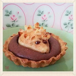 Recette Tartelette amandine chocolat à la poire