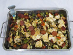 Recette Légumes confits au poulet, chorizo et paprika fumé