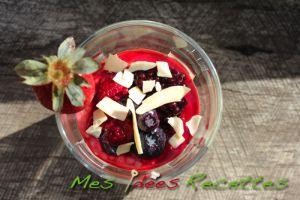 Recette Entremets au tapioca et aux fruits rouges
