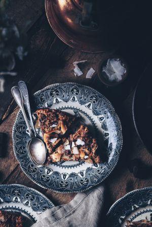 Recette Brioche pudding au chocolat & noix de coco