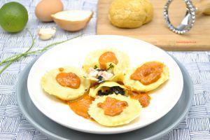 Recette Ravioles langoustines et champignons