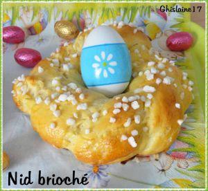 Recette Nids briochés de Pâques