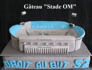 """Recette Gâteau """"Stade de l'om"""" en Pâte à Sucre"""