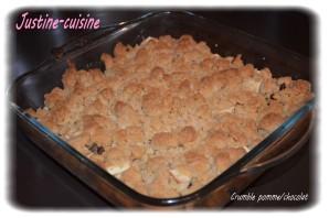 Recette Crumble de pomme au chocolat