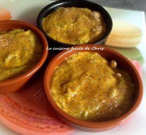 Recette Potimarron aux graines de chia, façon crème brûlée