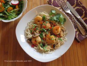 Recette Sauté de crevettes teriyaki +