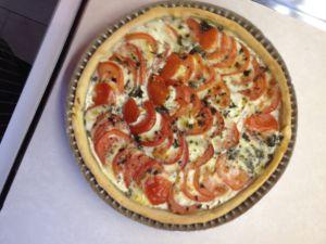 Recette Quiche à la tomate