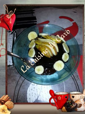 Recette Bowlcake  banane-poire chocolat