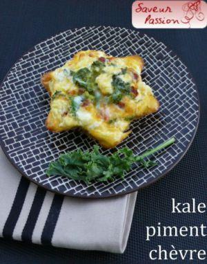 Recette Frittata au chou kale, piment et chèvre frais
