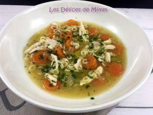 Recette Soupe de poulet (avec un reste de poulet rôti)