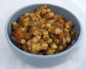 Recette Salade aubergines et pois chiches