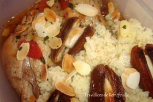 Recette Tajine de poulet aux dattes
