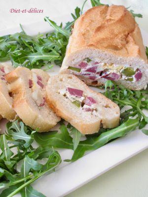 Recette Baguette farcie au canard