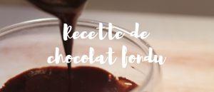 Recette Chocolat fondu (healthy & vegan)