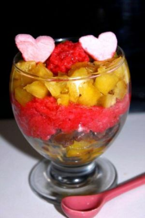 Recette Coupes ananas chamallows