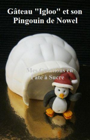 """Recette Gâteau """"Igloo"""" Individuel en Pâte à Sucre"""