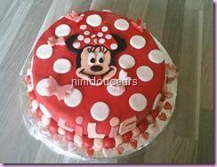 Recette Gâteau Minnie ( ganache kinder)