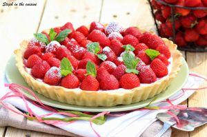 Recette Tarte aux fraises - fraises confites