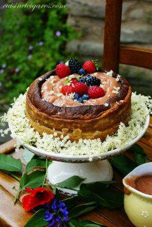 Recette Cheesecake Rhubarbe et Fleurs de Sureau