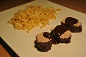 Recette Filet mignon de porc, sauce au chocolat