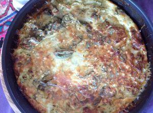 Recette Frittata courgettes/thon/parmesan