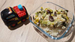 Recette Petit pot cabillaud et poireaux à la crème, raisin secs, riz (12 mois)